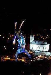 23.01.2017, Lechnerberg, Kaprun, AUT, Freestyle Night Kaprun, im Bild Freestyle Skier // Athletes and Ski Teachers show their skills at the Ski- Snowboardshow for Tourists and Locals in Kaprun, Austria on 2017/01/23. EXPA Pictures © 2017, PhotoCredit: EXPA/ JFK