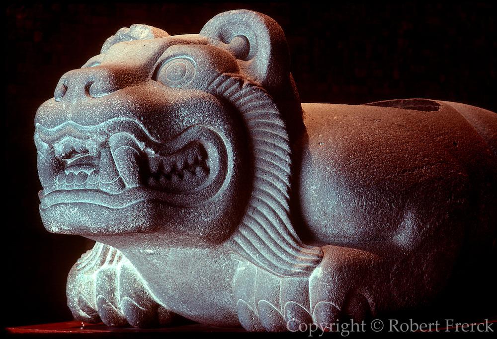 MEXICO, MEXICO CITY, MUSEUM Aztec: Oceloti-Cuauhxicalli altar
