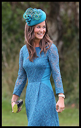 Pippa Middleton arriving at the wedding of Lady Laura Marsham in Gayton, Norfolk, United Kingdom,  Saturday, 14th September 2013. Picture by Stephen Lock / i-Images