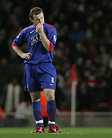 Photo: Paul Thomas.<br /> Arsenal v Manchester United. The Barclays Premiership. 21/01/2007.<br /> <br /> Wayne Rooney, Man Utd's goal scorer, shows his dejection during the game.