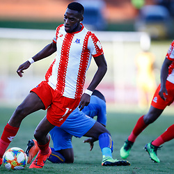 Fortune Makaringe of Maritzburg Utd during the Premier Soccer League (PSL) promotion play-off  match between  Royal Eagles and Maritzburg United F.C. at the Chatsworth Stadium Durban.South Africa,29,05,2019