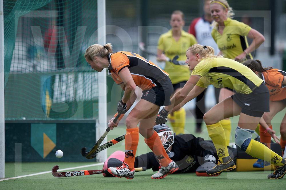 EINDHOVEN - Oranje-Zwart- de Terriers..Hoofdklasse dames.Foto: Marilyn Agliotti scoort..FFU PRESS AGENCY COPYRIGHT FRANK UIJLENBROEK.