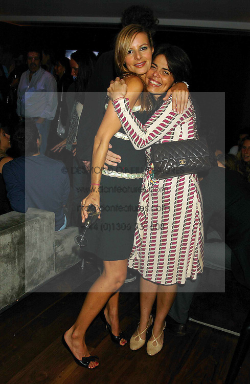 Left to right, MISS JESSICA SIMON and Designer DANIELLA HELAYEL at a party to view the designs of Jessica Simon at the beginning of London Fashion Week held at The Electric Cinema, Portabello Road, London on 19th September 2004.<br />