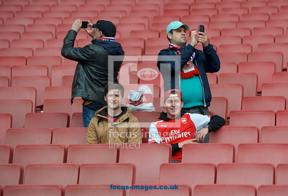 A low turnout of Arsenal fans is predicted for the Barclays Premier League match at the Emirates Stadium, London<br /> Picture by Alan Stanford/Focus Images Ltd +44 7915 056117<br /> 21/04/2016