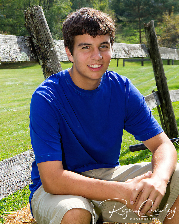 Senior portrait of Matthew Murray in Montpelier Vermont 2012.