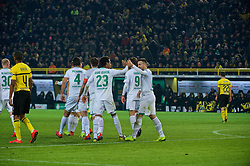 05.02.2019, Signal Iduna Park, Dortmund, GER, DFB Pokal, Borussia Dortmund vs SV Werder Bremen, Achtelfinale, im Bild Bremer Jubel um Claudio Pizarro (SV Werder Bremen #4) nach dessen Treffer zum 2:2 // during the German Pokal round of 16 match between Borussia Dortmund and SV Werder Bremen at the Signal Iduna Park in Dortmund, Germany on 2019/02/05. EXPA Pictures © 2019, PhotoCredit: EXPA/ Andreas Gumz<br /> <br /> *****ATTENTION - OUT of GER*****