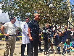 September 13, 2017 - Florida, U.S. - Officials take questions from the media at the site of the Rehabilitation Center at Hollywood Hills, where six residents died after power went out during Hurricane Irma, which struck Florida on Sunday Sept. 10, 2017. (Credit Image: © Handout/The Palm Beach Post via ZUMA Wire)