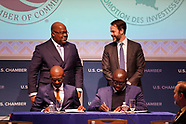 President Congo visits US Chamber of Commerce