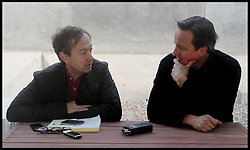 The Mail On Sunday Editor Geordie Greig interviewing the The Prime Minister David Cameron at Camp Bastion on a visit to Afghanistan. Monday, 16th December 2013. Picture by Andrew Parsons / i-Images
