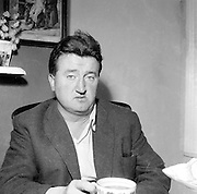 10/08/1960<br /> 08/10/1960<br /> 10 August 1960<br /> Portrait of writer Brendan Behan.