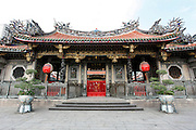 The exterior of Longson Temple in cental Taipei.