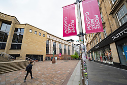 Glasgow, Scotland, UK. 14 May 2020.  With Scotland still in Covid-19 lockdown the city centre of Glasgow remains deserted with with few members of the public on the streets and shops, offices and restaurants closed. Pictured; Buchanan Street pedestrian area is almost deserted.  Iain Masterton/Alamy Live News