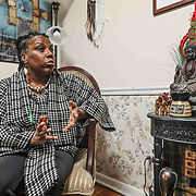 Former UD professor Arica Coleman response to questions Wednesday. Feb. 27, 2019, at her home in Newark, DE. <br /> <br /> Former UD professor was denied tenure. She believes it was discriminatory