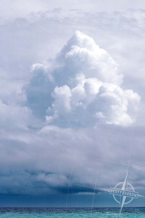 Cumulonimbus Clouds Over Ocean