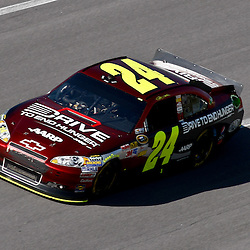 April 17, 2011; Talladega, AL, USA; NASCAR Sprint Cup Series driver Jeff Gordon (24) during the Aarons 499 at Talladega Superspeedway.   Mandatory Credit: Derick E. Hingle