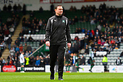 Plymouth Argyle manager Derek Adams before the EFL Sky Bet League 2 match between Plymouth Argyle and Accrington Stanley at Home Park, Plymouth, England on 1 April 2017. Photo by Graham Hunt.