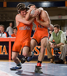 Virginia's Nick Nelson defeated Campbell's Keith Bidelspach by decision (3-1)  in the 141lb weight class. The Virginia Cavaliers defeated the Campbell Camels 48-0 in wrestling at the the University of Virginia's Memorial Gymnaisum  in Charlottesville, VA on February 2, 2008.