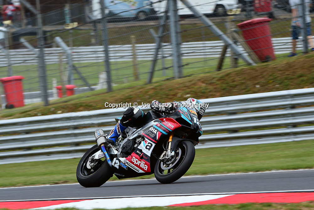 #12 Luke Hedger Hereford EHA Racing Aprilia UK Aprilia Pirelli National Superstock 1000 Championship
