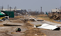 26 Sept, 2005. Cameron, Louisiana. Hurricane Rita aftermath. <br />