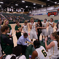 Cougars bench during the home opener on November  4 at Centre for Kinesiology, Health and Sport. Credit: /Arthur Images