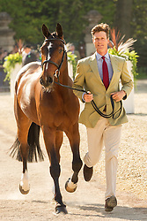 William Fox-Pitt (GBR) leads Parklane Hawk for the vet's inspection during the trot up at the 2013 Mitsubishi Motors Badminton Horse Trials. Thursday 02  May  2013.  Badminton, Gloucs, UK..Photo by: Mark Chappell / i-Images