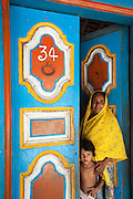 Muslim woman and child. Nagore. South India.