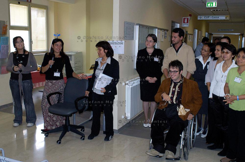 Roma 30 Settembre 2008.Inaugurazione dello Sportello Interculturale Salute della Caritas diocesana di Roma situato al Poliambulatorio ASL RMA di via Luzzati,8