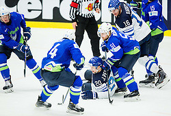 Ziga Jeglic of Slovenia, Rok Ticar of Slovenia, Janne Pesonen of Finland, Mitja Robar of Slovenia, Aleksander Barkov of Finland during Ice Hockey match between Finland and Slovenia at Day 7 in Group B of 2015 IIHF World Championship, on May 7, 2015 in CEZ Arena, Ostrava, Czech Republic. Photo by Vid Ponikvar / Sportida