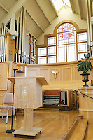 Modern church interior