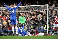 Fotball<br /> England<br /> Foto: Fotosports/Digitalsport<br /> NORWAY ONLY<br /> <br /> Chelsea v Arsenal Premier League 30.11.08 <br /> <br /> Johan Djourou Arsenal scores own goal for Chelsea