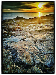 """Sunrise at Odiorne Point State Park, Rye, New Hampshire. iPhone photo - suitable for print reproduction up o 8"""" x 12""""."""