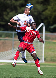 Virginia Cavaliers defender Howard Turk (26).  The North Carolina State Wolfpack defeated the Virginia Cavaliers 1-0 in NCAA Men's Soccer during a spring scrimmage at the Klockner Stadium practice field on the Grounds of the University of Virginia in Charlottesville, VA on April 4, 2009.