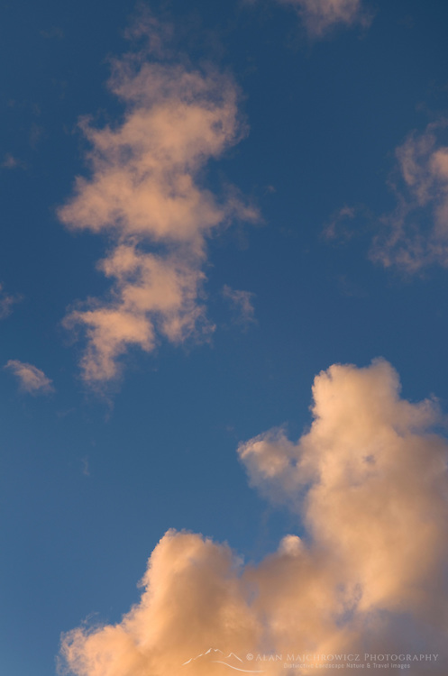 Clouds in evening sky