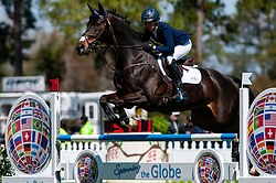March 22, 2019 - Raeford, North Carolina, US - March 22, 2019 - Raeford, N.C., USA - LIZ HALLIDAY-SHARP of the United States riding FERNHILL BY NIGHT competes in the show jumping CCI-4S division at the sixth annual Cloud 11-Gavilan North LLC Carolina International CCI and Horse Trial, at Carolina Horse Park. The Carolina International CCI and Horse Trial is one of North AmericaÃ•s premier eventing competitions for national and international eventing combinations, hosting International competition at the CCI2*-S through CCI4*-S levels and National levels of Training through Advanced. (Credit Image: © Timothy L. Hale/ZUMA Wire)