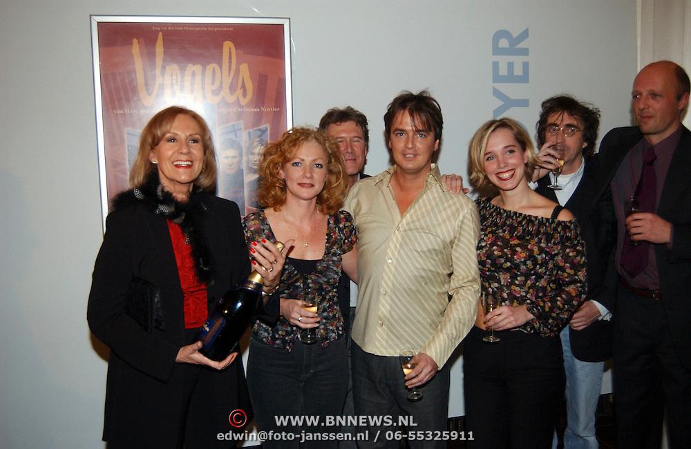 Premiere Vogels, cast, Anne Wil Blankers, Hymke de Vries, Hans Breetveld, nienke Römer en Jules Hamel