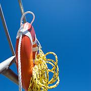 Life saving ring on the dock in Thomaston, Maine