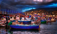 """Sorrento panorama of tired fishing boats - Marina Grande Sorrento""..."