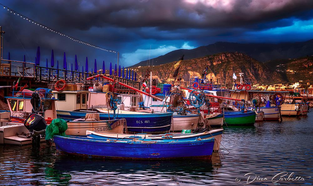 """Sorrento panorama of tired fishing boats - Marina Grande Sorrento""..."