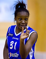 Nikya Hughes of Celje at finals match of Slovenian 1st Women league between KK Hit Kranjska Gora and ZKK Merkur Celje, on May 14, 2009, in Arena Vitranc, Kranjska Gora, Slovenia. Merkur Celje won the third time and became Slovenian National Champion. (Photo by Vid Ponikvar / Sportida)