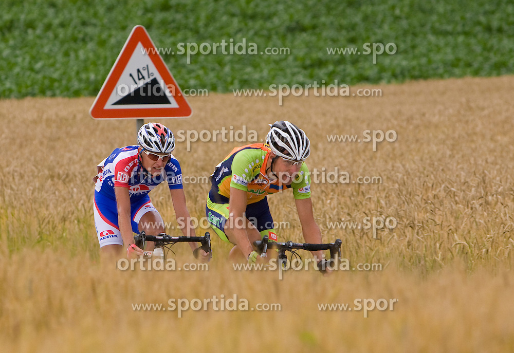 Tomaz Nose and Vladimir Kerkez at Slovenian National Championships in Road cycling, 178 km, on June 28 2009, in Mirna Pec, Slovenia. (Photo by Vid Ponikvar / Sportida)