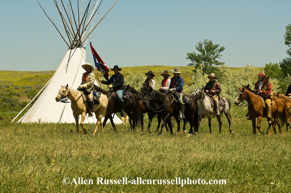 George Custer, 7th Cavalry, Battle of the Little Bighorn Reenactment, Crow Indian Reservation, Montana
