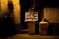 Evening vendor in Cartagena, Colombia ..Photo by Robert Caplin..