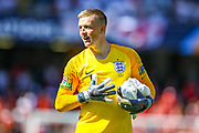 England goalkeeper Jordan Pickford (Everton) during the UEFA Nations League 3rd place play-off match between Switzerland and England at Estadio D. Afonso Henriques, Guimaraes, Portugal on 9 June 2019.