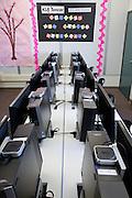 The new KLA-Tencor Computer Lab at Zanker Elementary School in Milpitas, California, on February 27, 2013. (Stan Olszewski/SOSKIphoto)