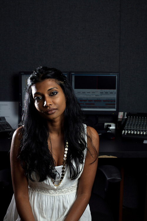 8/15/08 7:30:29 PM -- Washington, DC, U.S.A..Filmmaker Roshini Thinakaran photographed at her editing studio In Washington, DC on Friday, Aug. 15, 2008...Photo by Jay Westcott, Freelance.