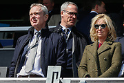 Swansea City Chairman Trevor Birch and Chief Operations Officer Chris Pearlman during the EFL Sky Bet Championship match between Queens Park Rangers and Swansea City at the Loftus Road Stadium, London, England on 13 April 2019.
