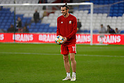 Wales forward Gareth Bale warming up during the Friendly match between Wales and Belarus at the Cardiff City Stadium, Cardiff, Wales on 9 September 2019.