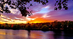 Autumn sunset over the Garonne River in Toulouse, France<br /> <br /> (c) Andrew Wilson | Edinburgh Elite media