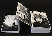 Accordion booklet with silver prints of BW pictures shot in the area around Central Train Station in Warsaw, Poland. Winter 2014