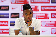 Raheem Sterling of England during the England press conference at Est&aacute;dio Claudio Coutinho, Rio de Janeiro<br /> Picture by Andrew Tobin/Focus Images Ltd +44 7710 761829<br /> 17/06/2014